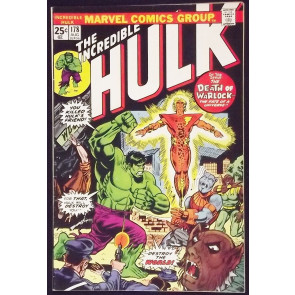 INCREDIBLE HULK #178 FN/VF REBIRTH OF WARLOCK