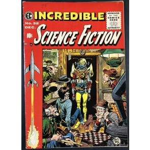 Incredible Science Fiction (1955) #32 FN+ (6.5) Classic Jack Davis Cover EC
