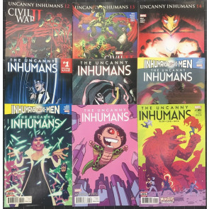 Inhumans lot of 30 comics 3 near complete sets Uncanny Royals Attilan Rising
