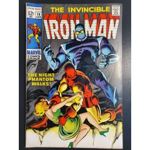 INVINCIBLE IRON MAN 14 (1969) VF (8.0) HIGH GRADE THE NIGHT PHANTOM WALKS! |