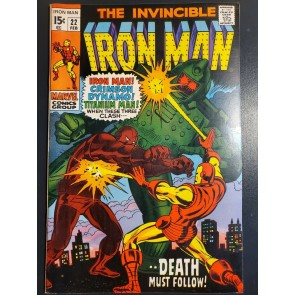 INVINCIBLE IRON MAN 22 (1970) VF/NM 9.0 HIGH GRADE CRIMSON DYNAMO TITANIUM MAN|