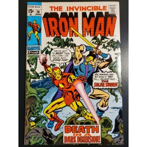 INVINCIBLE IRON MAN 26 (1970) NM- 9.2 VERY HIGH GRADE DUEL IN A DARK DIMENSION|