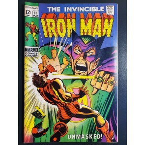 INVINCIBLE IRON MAN 11 (1969) VF+ (8.5) VERY HIGH GRADE UNMASKED VS. MANDARIN |