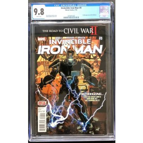 Invincible Iron Man (2015) #9 CGC 9.8 1st app Riri Williams (2074051020)