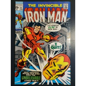 INVINCIBLE IRON MAN 21 (1969) VF+ (8.5) HIGH GRADE  CRIMSON DYNAMO APPEARANCE|