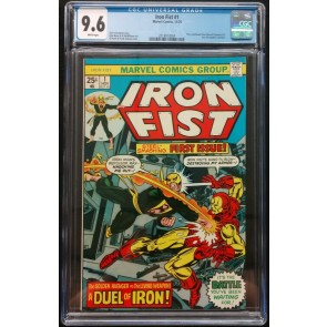 Iron Fist (1975) #1 CGC 9.6 White Pages Iron Man Vs Iron Fist (2019913004)