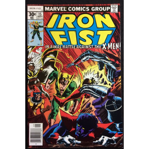 Iron Fist (1976) #15 VF+ (8.5) X-Men cover & app early John Byrne X-Men