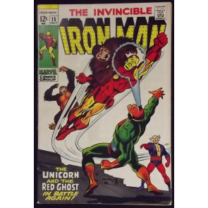 IRON MAN #15 FN+ VS THE UNICORN & THE RED GHOST