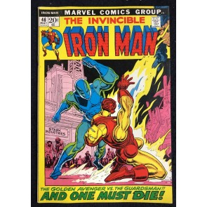 Iron Man (1968) #46 FN (6.0) vs Guardsman picture frame cover