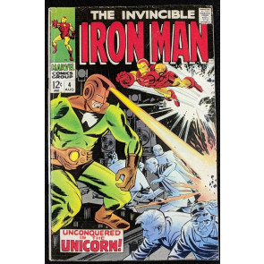 Iron Man (1968) #4 VG/FN (5.0)  vs Unicorn