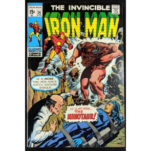 Iron Man (1968) #24 NM (9.4) vs Minotaur