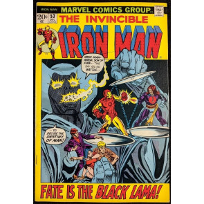 Iron Man (1968) #53 FN+ (6.5)  1st app Black Lama