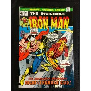 Iron Man (1968) #66 VF- (7.5) Gil Kane Thor Battle Cover