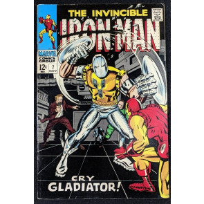 Iron Man (1968) #7 VF- (7.5)  vs Gladiator part 1