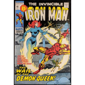Iron Man (1968) #42 VF (8.0)  vs Demon-Queen