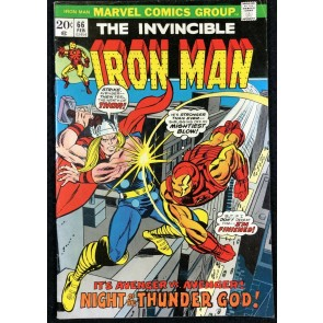 Iron Man (1968) #66 FN+ (6.5) classic Thor Battle Cover