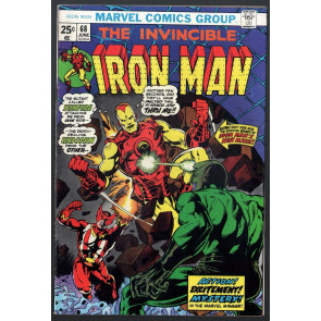 Iron Man (1968) #68 FN- (5.5) vs Sunfire & Unicorn