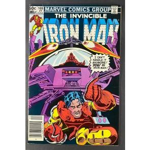 Iron Man (1968) #169 VF- (7.5) 1st James Rhodes as Iron Man Luke McDonnell