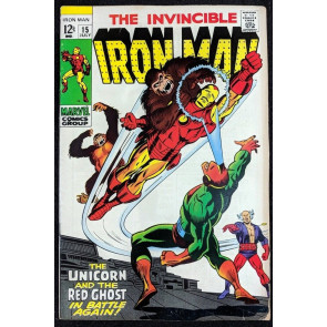 Iron Man (1968) #15 FN- (5.5)  vs  Red Ghost & Unicorn