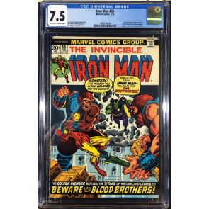 Iron Man (1968) #55 CGC 7.5 1st app Thanos (1997274006)