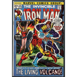 Iron Man (1968) #52 VG/FN (5.0) vs Raga Son of Fire picture frame cover