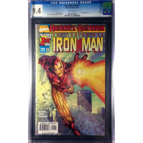 Iron Man (1998) #1 Regular & Sunburst variant both CGC 9.4 (0804918003)