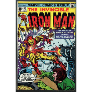 Iron Man (1968) #77 VG/FN (5.0) War of the Super-Villains conclusion