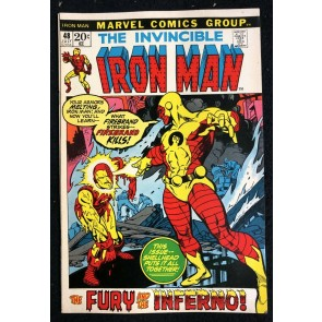 Iron Man (1968) #48 FN+ (6.5) vs Firebrand