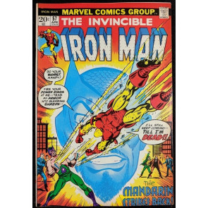 Iron Man (1968) #57 NM (9.4)  vs Mandarin