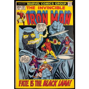 Iron Man (1968) #53 VF- (7.5)  1st app Black Lama