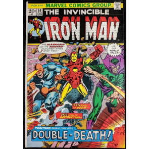 Iron Man (1968) #58 VF (8.0)  vs Mandarin & Unicorn