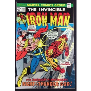 Iron Man (1968) #66 NM (9.4) classic Thor battle cover