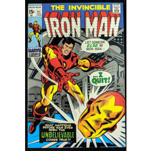 Iron Man (1968) #21 VF- (7.5)