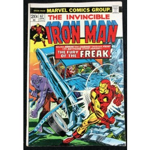 Iron Man (1968) #67 FN+ (6.5) versus The Freak