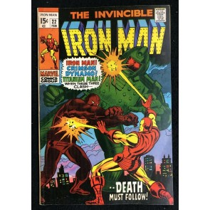 Iron Man (1968) #22 FN/VF (7.0) Crimson Dynamo Titanium Man