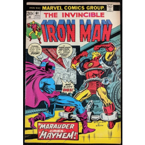 Iron Man (1968) #61 VF- (7.5)  vs Masked Marauder