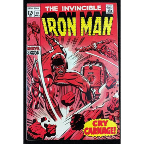 Iron Man (1968) #13 VF- (7.5)  vs  Controller