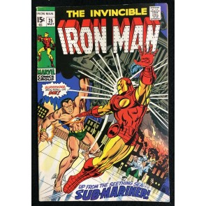 Iron Man (1968) #25 FN+ (6.5) Sub-Mariner battle cover