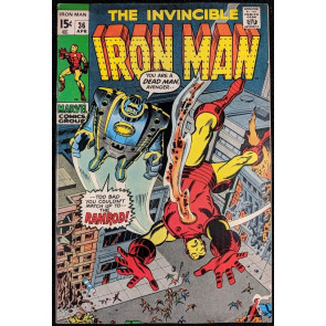 Iron Man (1968) #36 VF- (7.5) with DareDevil & Nick Fury vs Zodiac