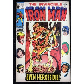 Iron Man (1968) #18 VF- (7.5)  Avengers cover & app