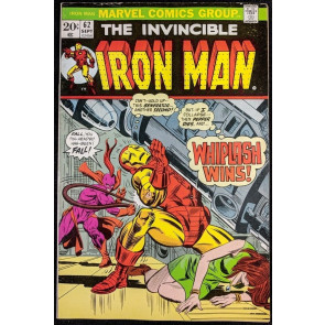 Iron Man (1968) #62 FN/VF (7.0)  vs Whiplash