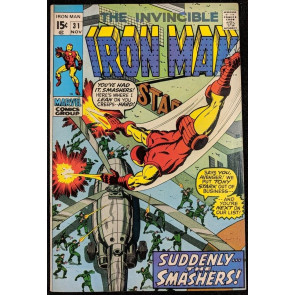 Iron Man (1968) #31 NM (9.4)  vs Smashers