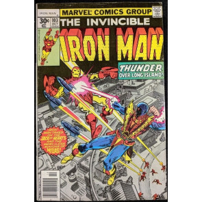 Iron Man (1968) #103 FN/VF (7.0)  Jack of Hearts battle cover