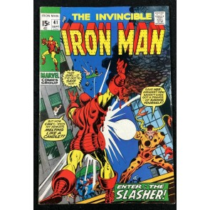 Iron Man (1968) #41 FN+ (6.5) 1st app Slasher