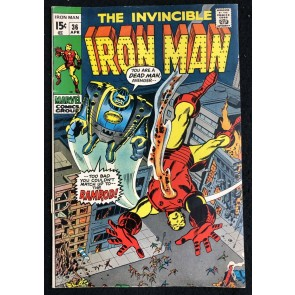 Iron Man (1968) #36 FN- (5.5) vs Ramrod