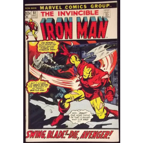 IRON MAN #51 FN/VF GEORGE TUSKA ART