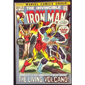 IRON MAN #52 FN/VF GEORGE TUSKA ART