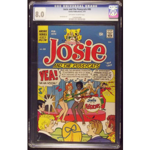 JOSIE AND THE PUSSYCATS #46 CGC GRADED 8.0 1ST PUSSYCATS COVER