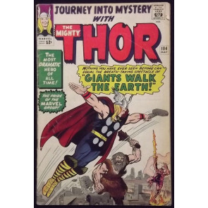 JOURNEY INTO MYSTERY #104 VG STAN LEE JACK KIRBY THOR
