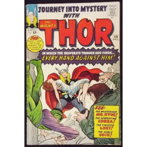 JOURNEY INTO MYSTERY #110 VG+ VS HYDE & COBRA THOR